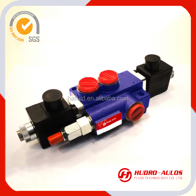 HUDRO-AULOS brand 50LPM 3 ways solenoid control,1-6 levles control,solenoid control directional control valve for truck