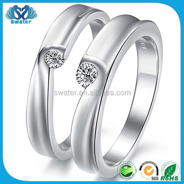 Free Shipping White Gold Plated Vogue Jewelry Wedding Rings