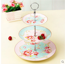 High quality wholesale flower pattern 3 tier cake stand