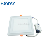 blue +white 6w+4W 220v double color light panel made in professional factory
