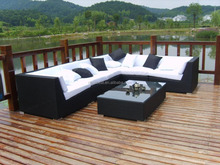 Aluminium Raw Material Wicker Rattan sofa set and big lots living room furniture
