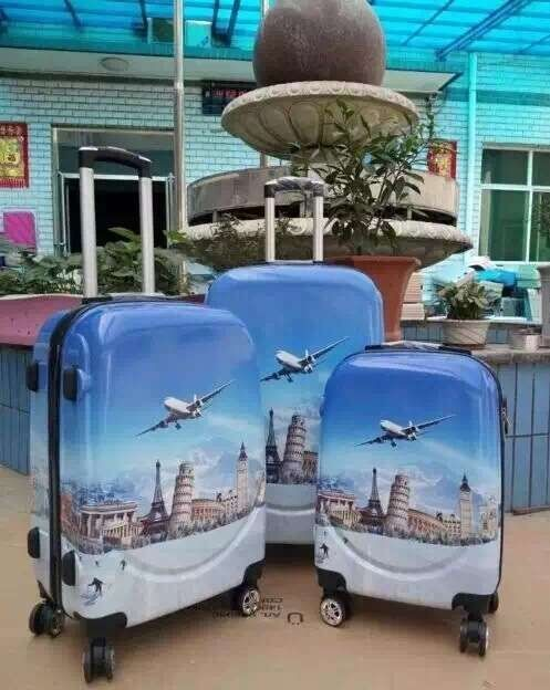 New design luggage bag 3PCS PC and ABS luggage bag travel luggage bag