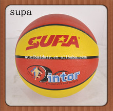 promotional rubber custom basketball ball, size 1