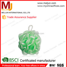 MELJUN Factory directly sell net bath sponge exfoliator LDPE mesh pouf bath sponge wholesale