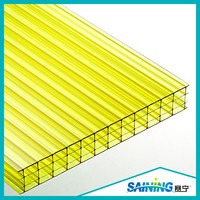 color hollow polycarbonate roofing sheet for swim pool cover