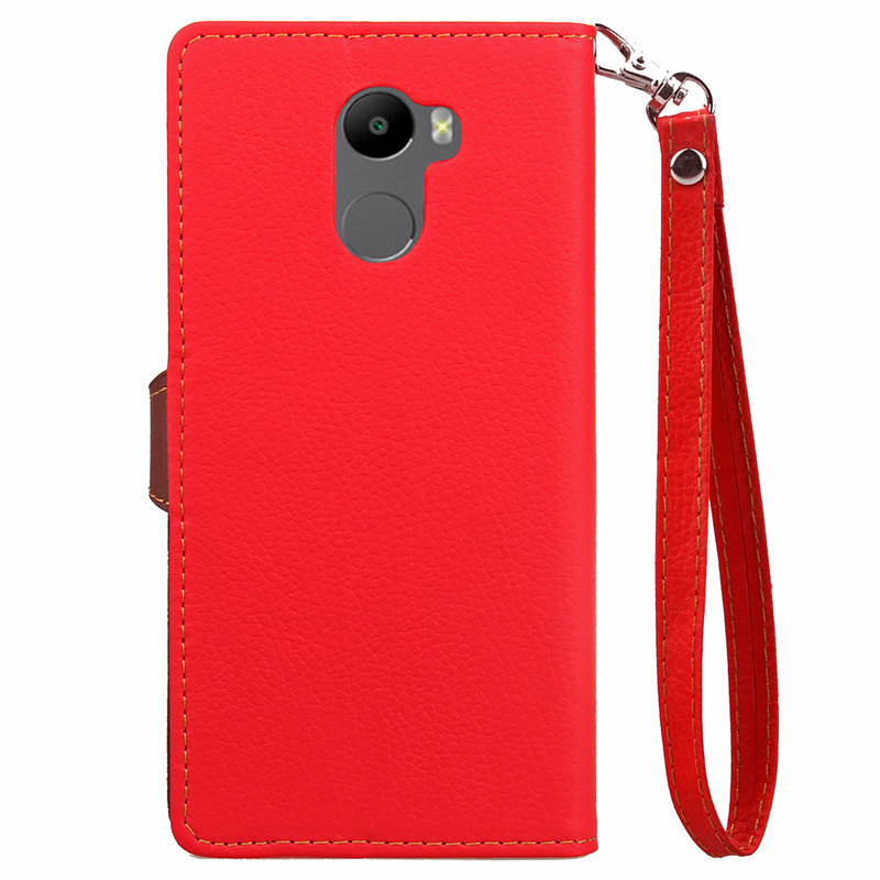 Wholesale Factory Price Cell Phone Case for Xiaomi Redmi 4 PU Leather Flip Cell Phone Case for Xiaomi Redmi 4