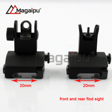 Free Shipping Tactical Flip up Front and Rear Back up Iron Sight