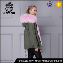Fancy beautiful winter warm cheap pink faux fur coat