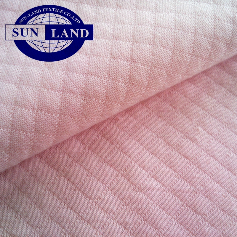 cvc diamond knitting air layer fabric for home textile