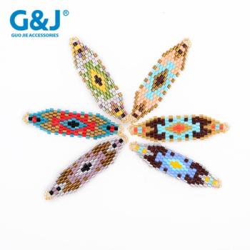 guojie brand accessory mixed color fashion fancy glass beads pendant
