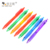 Office School Stationery Custom Design Transparent Plastic Cheap Multicolor Ballpoint Pen