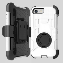 For iPhone 7 Case 4 Layer Ultra Protective Hard Mobile Phone Cover with Kickstand Belt Clip