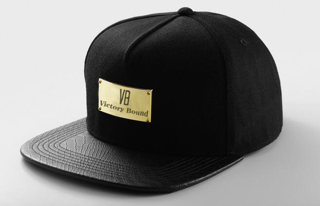 black metal logo 5 Panel snapback caps make your own snapback hats wholesale