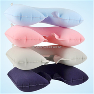 PVC printed inflatable wholesale travel u shape pillow car neck pillow air inflatable support smart customize