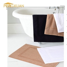 Factory Supply Wholesale White 100% cotton Material custom size bath rug