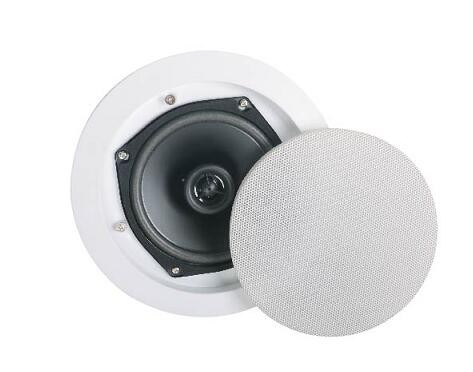 Hifi sound coaxial in-ceiling speaker 2-way with crossover for background music system