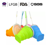 Promotional Gift 100% Food Grade Silicone Collapsible Folding Measuring Cup