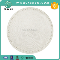 Wedding Table Decoration Round PP Placemat with Glass Bead