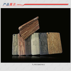 2013 new PU case for ipad mini with stand and wood pattern,small MOQ!