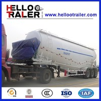 3 axle powder bulk cement trailer bpw brand air suspension