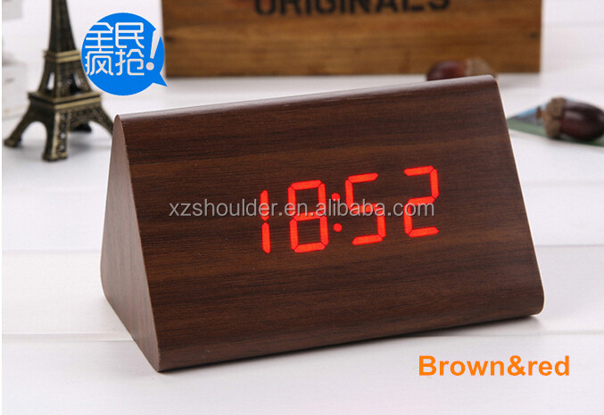 Modern Style Wood Despertador LED Digital Alarm Clocks Table Wooden Clock Electronic Desk Clock