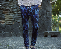 (stock)New design slim casual camouflage pants mid-rise pencil jeans