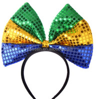 adult sequin large bow headband