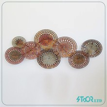 Large outdoor metal flower wall art decoration