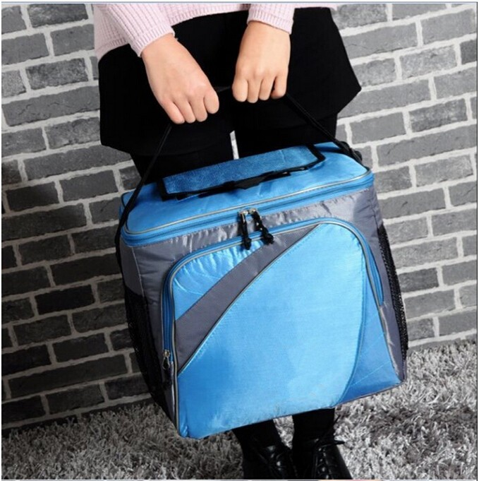 600D/420D Custom Recycled Outdoor Lunch Picnic Food Non-woven Insulated Cooler Bag
