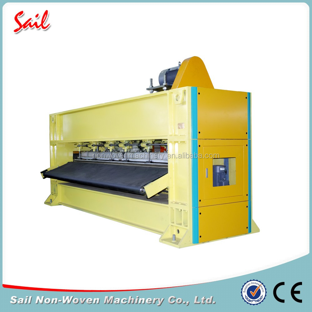 Nonwoven synthetic leather making machine carpet polyester needle punching machine