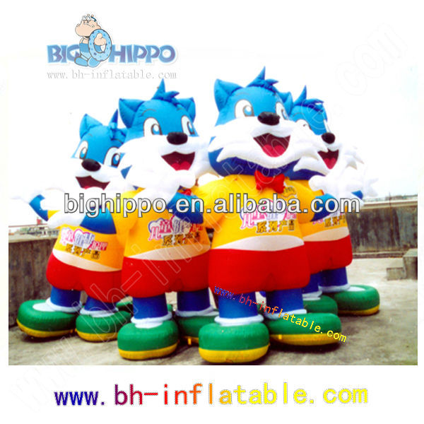 advertisement inflatable movable blue cat cartoon