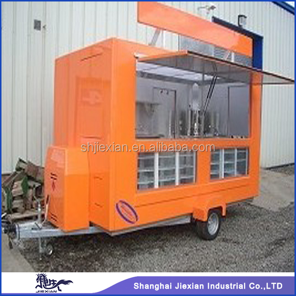 JX-FS280D Professional factory Manufacturing outdoor Mobile Fiberglass enclosed Food Trailer