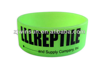 1 inch Grow in Dark silicone wristband