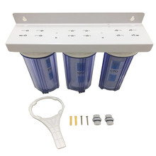 High Quality 10 Inch 3 Stages Grade <strong>water</strong> filter purifiers with clear housing