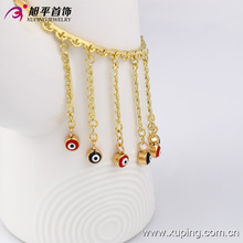 Simple Unique Multicolor Gold Plated Chain Evil Eye Dainty Delicate Layering Gold Necklaces
