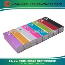 2200mAh 5v mini colorful backup battery portable charger for iphone/ipad mini/samsung/nokia cell phones