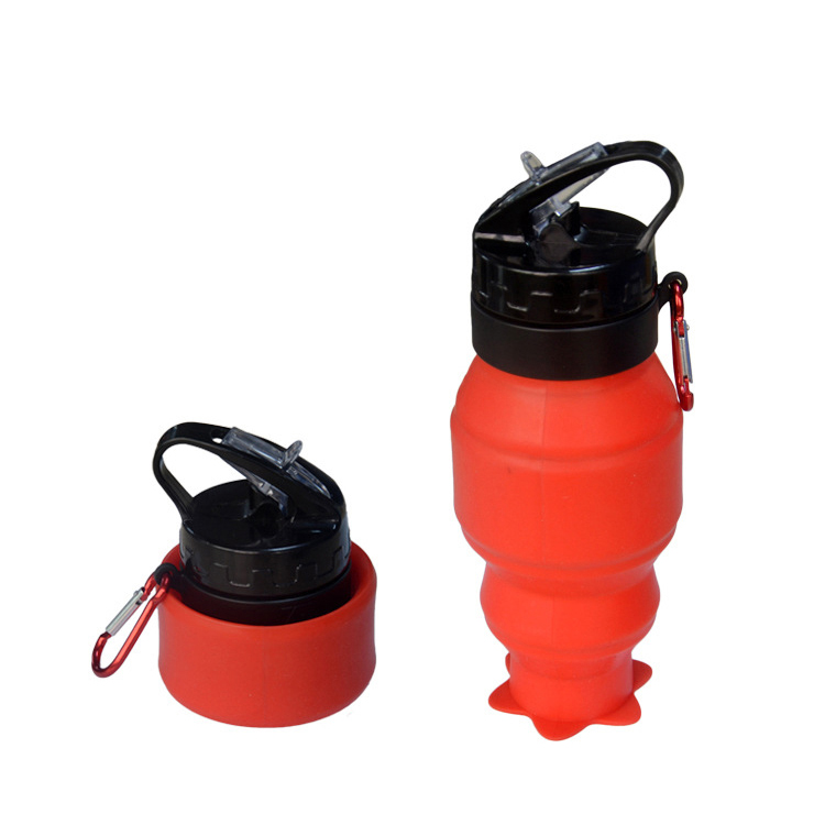 2018 New Products Outdoor Sports Drink Bottle Silicone Folding Water Kettles