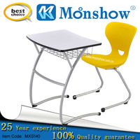 morden single desk and chair for school furniture,wholesale tables
