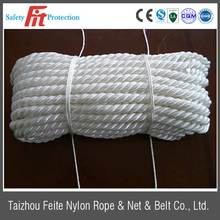 High tensile strength multi-color polyester twisted rope