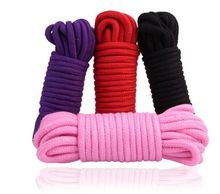 High Quality 10m Long Cotton Bondage Sex Rope for Adult Sex Toys male female to Restraint Hands Legs Body