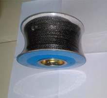 Wire reinforced flexible graphite braided packing