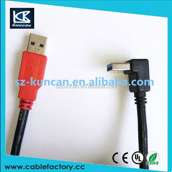 USB 3.0 A 90 degree Right angle male to Micro B male 90 degree left angle short Cable