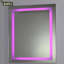 Rectangle Shape Wall Mounted LED Backlit Mirror with Border