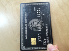 Embossed number Amex black metal cards
