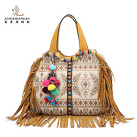 Popular ethnic style summer cloth ethnic canvas boho handbag bags