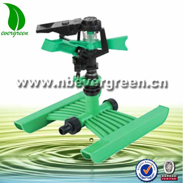 "1/2"" Plastic Impulse Garden Sprinkler with Orbit sprinkler head and H Type Base"