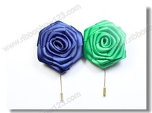Personalized make fabric flower brooch