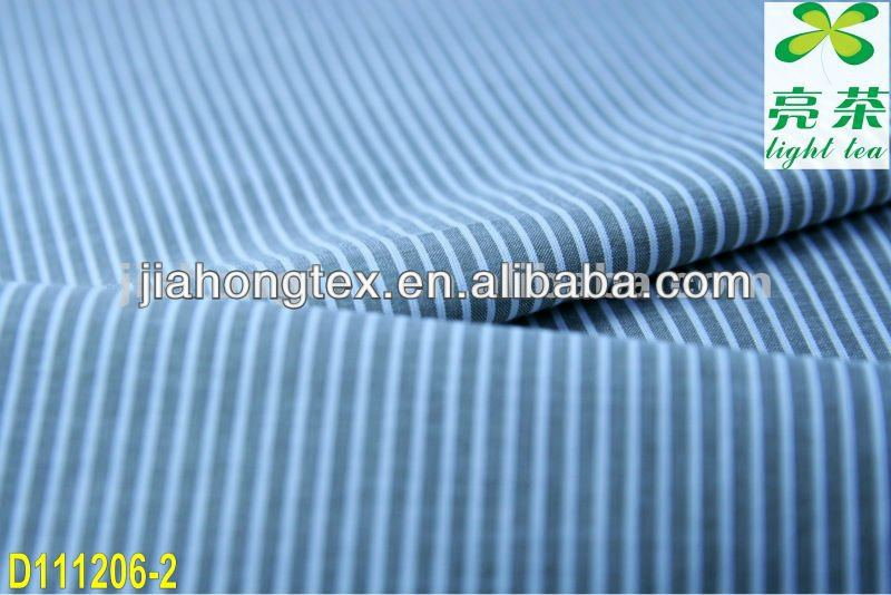 cotton/polyester stripe fabric