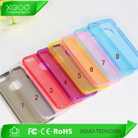 transparent cover for iphone 5 tpu case with dust cap