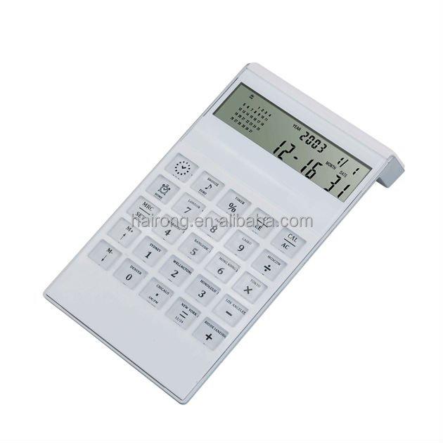 Hairong High Quality Fashional Design Calender Desktop Calculator solar